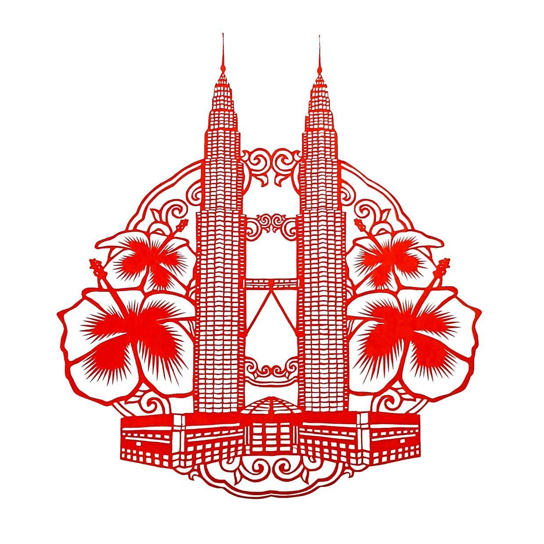 The Petronas Twin Towers.