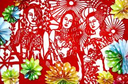 Malaysian red paper-cutting artist keen to preserve the traditional art form