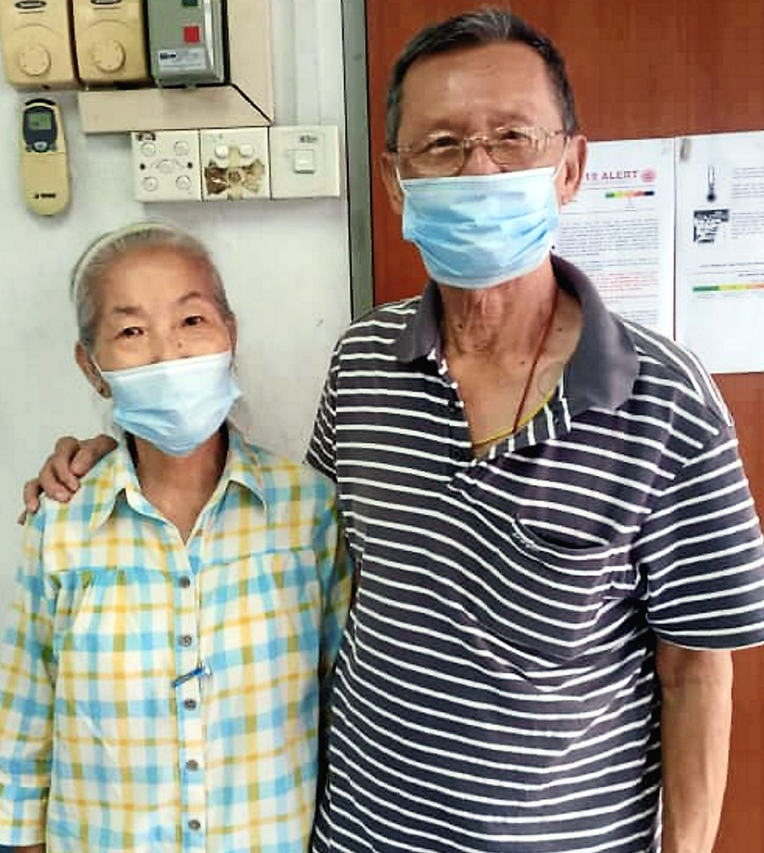 Johor MB is calling on state representatives to help senior citizens like Looi (left) and her husband Ong to get vaccinated.
