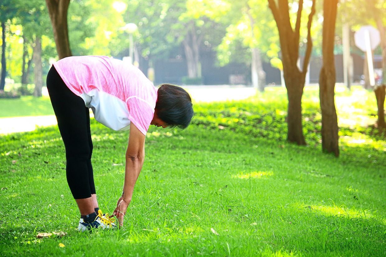 Stretching before and after your run is a good way to help prevent injuries and pain. — TNS