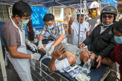 Plane crashes in Mandalay