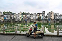 The 'tube houses' that dominate Hanoi
