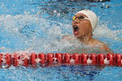 Swimmer with a Yean for winning