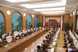 North Korea leader presides over Central Military Commission meeting, calls for 'high alert posture'