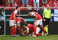 Soccer-Denmark's Eriksen rushed to hospital after collapsing in Euro 2020 match