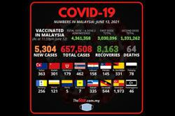 Covid-19: 5,304 new cases bring total to 657,508