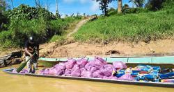 Longboats send much-needed food aid to Sibu rural folk