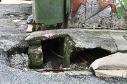 Damaged road and drains along back lanes pose risk, say Imbi folk