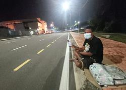 Jobless in Melaka, he takes to begging at night