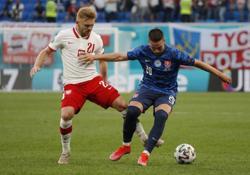 Soccer-Skriniar shines as Slovakia sink 10-man Poland