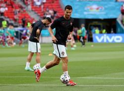 Soccer-Ronaldo makes Euros history as he starts in fifth tournament