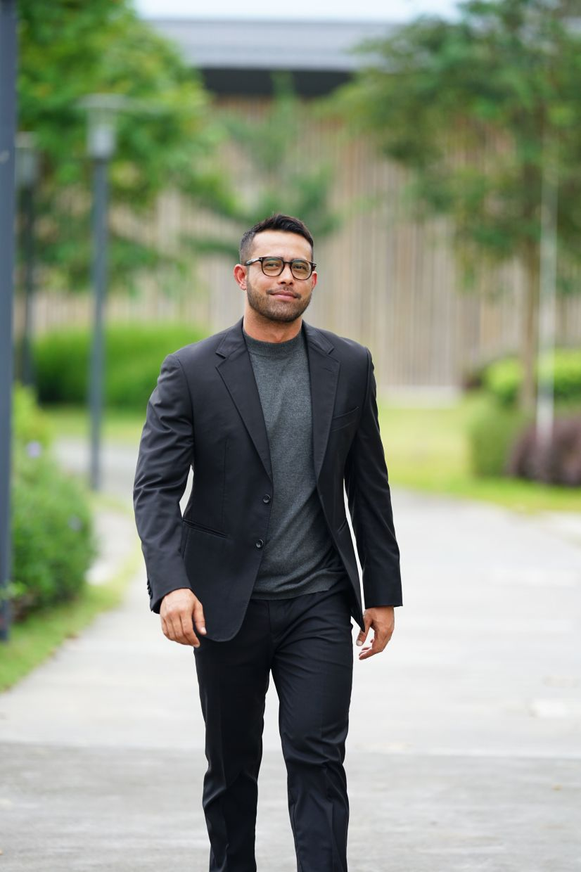 Zul Ariffin says he enjoys watching light comedies and has a keen interest to act in one. Photo: Zul Ariffin