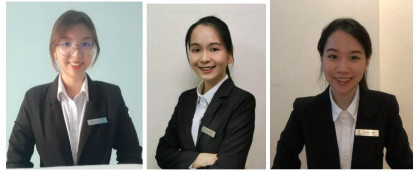 (From left) Bachelor of Hospitality Administration students Lee, Teh and Chai won third place in the HTMi student Forum 2021 Innovation Challenge.