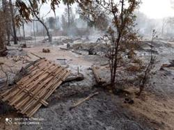 Myanmar village burned after fighting; residents blame security forces