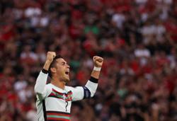 Cristiano Ronaldo breaks record in front of tourney's biggest crowd so far