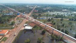 Main structure of longest bridge along China-Laos Railway completed