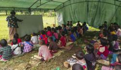 Myanmar's renewed war scatters tens of thousands to forests