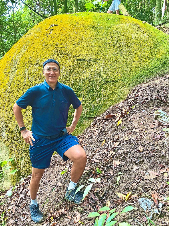 The writer at the Big Rock trail in Bukit Kiara.