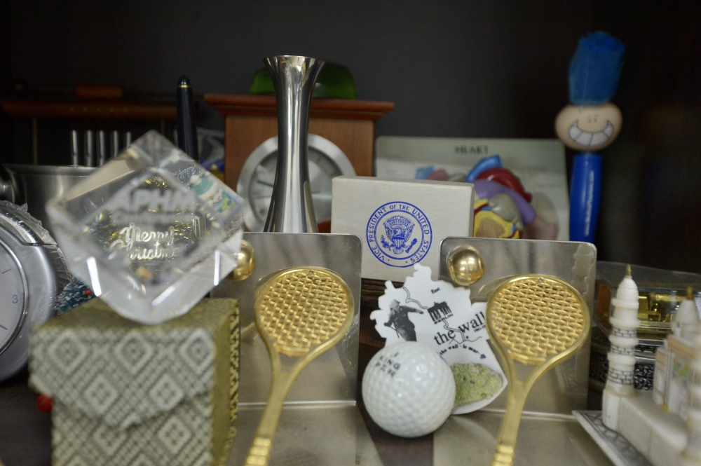 A small section of the many keepsakes Dr Jacob has been presented with over the years.