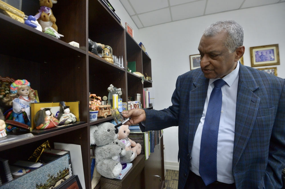 The wall of memories and keepsakes in his office is something of a testament to the much-loved and respected figure many know Dr Jacob to be. — Photos: RAJA FAISAL HISHAN/The Star