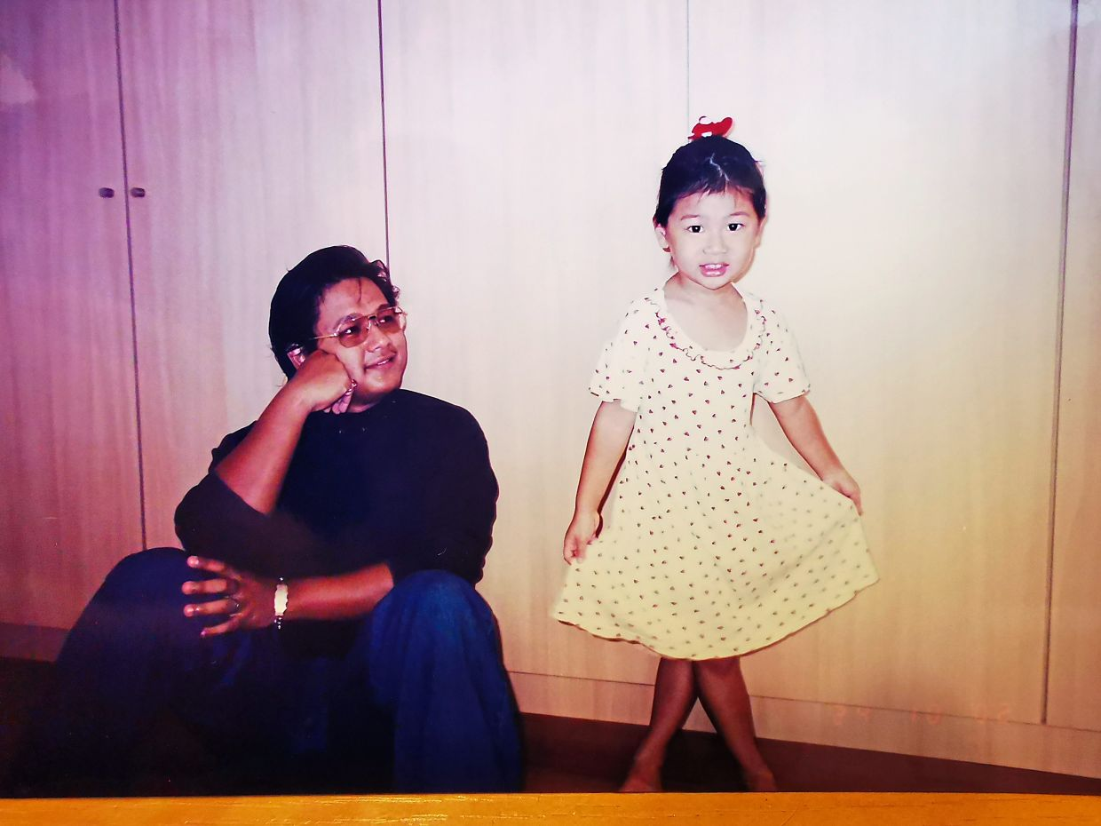 As a father, I want to be there for my children and encourage them to excel in all that they want to be, says Sharizan, pictured with daughter Kayra when she was much younger. Photo: Sharizan Borhan