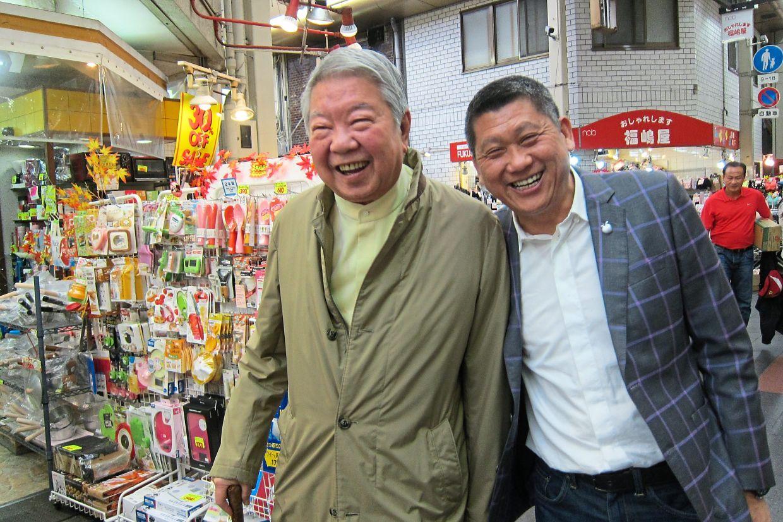 Writer (right) and food critic Chua Lam at Hamato Fugu restaurant in Kuroshio Market, Osaka, where they were introduced to fugu sperm wine.  - Photos: LEESAN