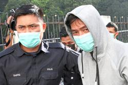Trader claims trial to beating up pregnant wife