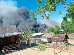 'Troops torched Magway village'