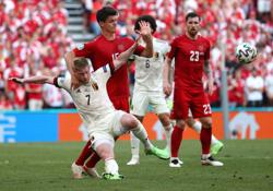 Soccer-De Bruyne inspires Belgium comeback win amid Eriksen tributes