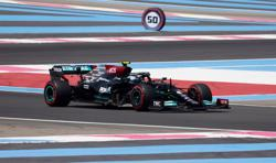 Motor racing-Bottas leads Mercedes one-two in first French GP practice
