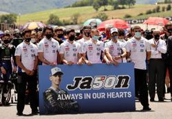 Motorcycling-MotoGP retires Dupasquier's race number 50