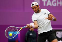 Tennis-Berrettini beats Evans to set up De Minaur semi at Queen's