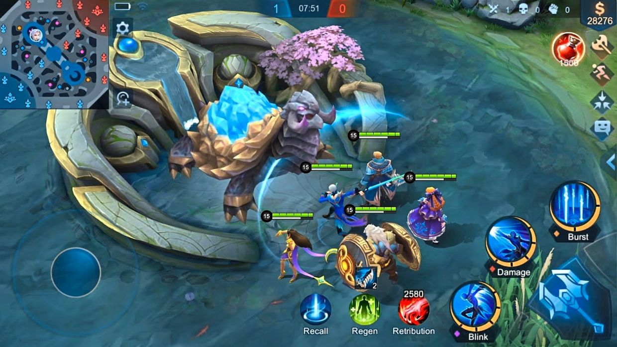 In addition to fighting other player controlled characters, players can also battle against neutral monsters on the map. — MLBB