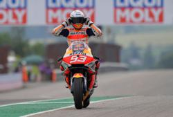Motorcycling-Marquez secures emotional first win in Germany since injury comeback
