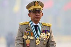 Myanmar junta leader Min Aung Hlaing departed for Russia on Sunday, state media says