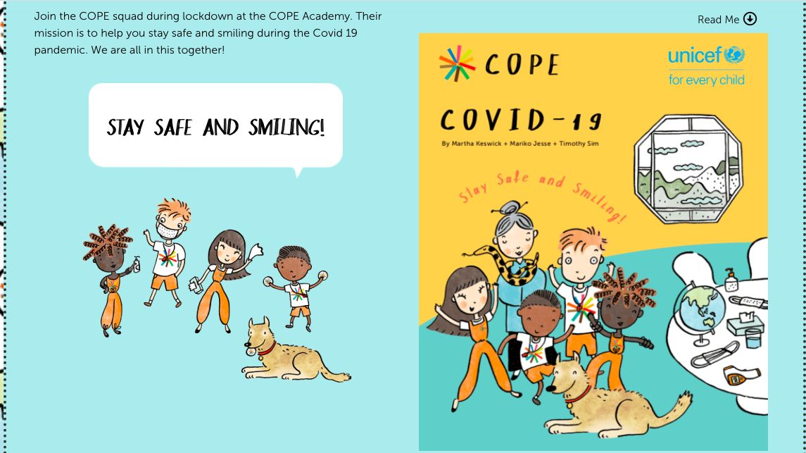'Covid-19' is one of the timely titles in the COPE Disaster series. Photo: COPE