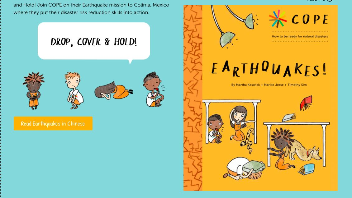 Learn about 'Earthquakes!' in this COPE title for young children.