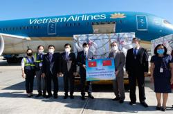 China-donated Covid-19 vaccines and syringes arrive at Vietnam airport