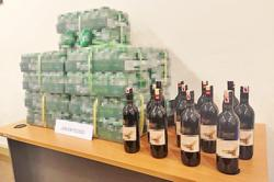 Major alcohol haul seized in joint op between army and police in Brunei