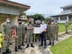 Shots over here, on the double: Combat medic team to inoculate villagers in Sarawak highlands