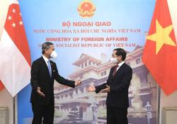 Vietnam foreign minister asks Singaporean counterpart for support with exports