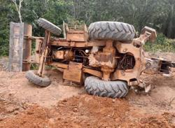 Man dies on first day at work after backhoe plunges on him