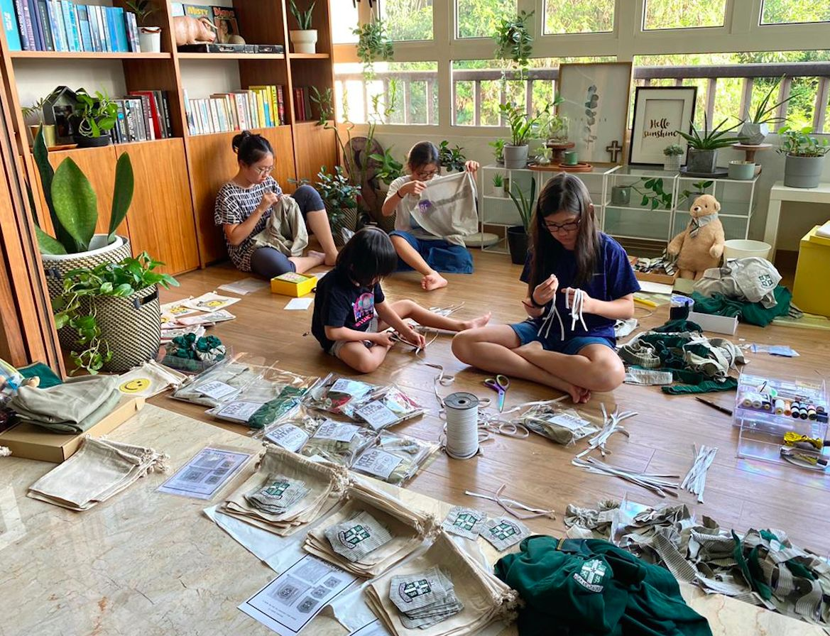 It's a whole family affair, with everyone chipping in to help sew gifts for donors. Photo: KitaKitar