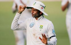 Magnificent Maharaj revels in rare hat-trick for South Africa