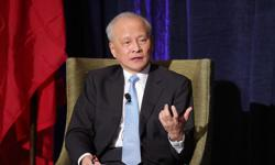 Outgoing Chinese envoy to US encourages overseas Chinese to continue role in mutual exchange