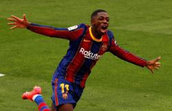 Soccer-Barcelona's Dembele faces surgery again following knee injury