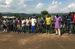 Dozens of Congo's rebels lay down weapons in the east