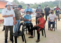 Vaccination op hits Sabah's interiors