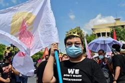 Thai democracy protesters rally against govt despite Covid warnings