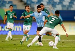 Uruguay labour but beat Bolivia 2-0 to reach Copa quarters